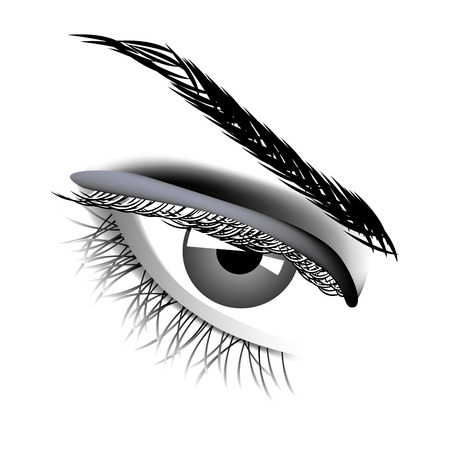 eye closeup: Woman eye Illustration