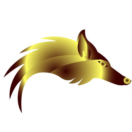 zorro: Resumen de oro con el logotipo de Fox Vectores