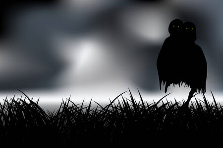 Horror creature in the dark Vector