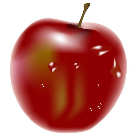 Red apple Stock Vector - 3623089