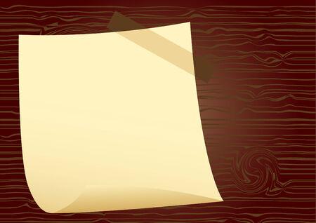 carta da lettere: Carta da lettere su legno di fondo