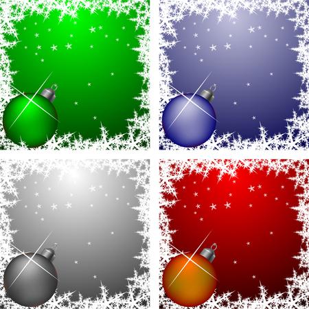 Christmas frames collection Vector