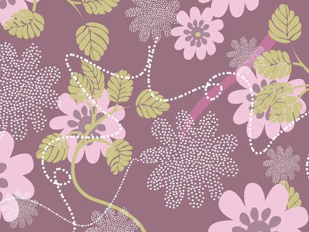girlie: Vintage floral background