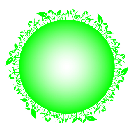 sorrel: Leaves on circle