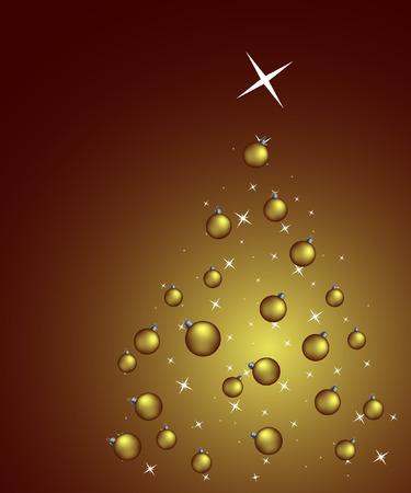 Christmas background with balls Stock Vector - 3768764