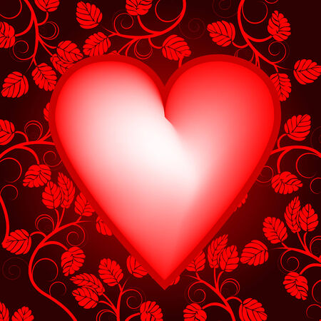 Valentines day background with heart Stock Vector - 3768759