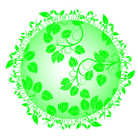 Leaves on circle Vector