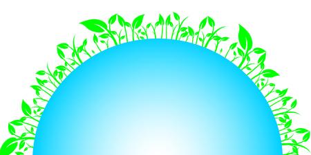 Floral earth Vector