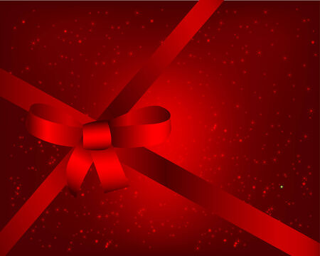 Red background with ribbon Vector
