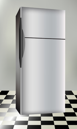 coolness: Refrigerator, vector illustration Illustration