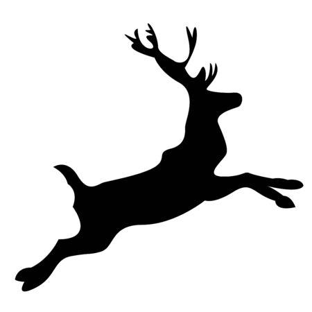Reindeer silhouette Stock Vector - 3828513
