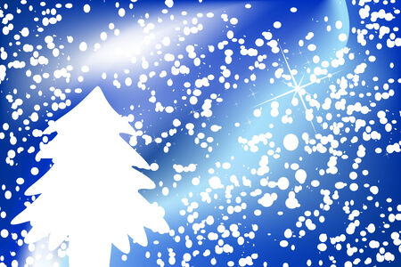 Christmas background with snowflakes and tree Stock Vector - 3828546