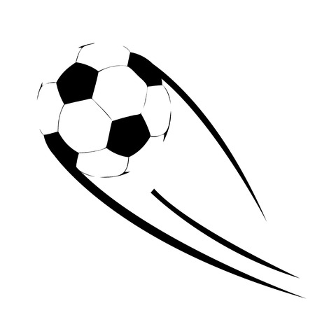 Soccer ball flying