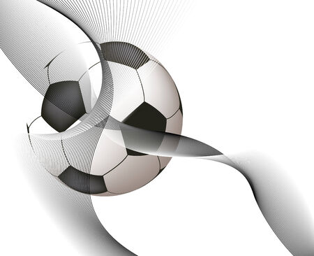 Abstract design with soccer ball Illustration