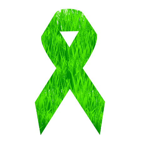 Support ribbon with grass Vector