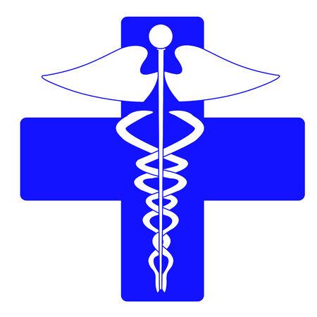 scepter: Medical caduceus charm