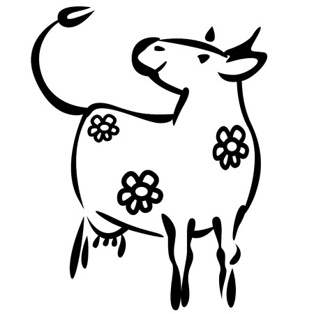 Milky cow Vector