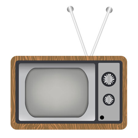 Old tv Stock Vector - 4145290