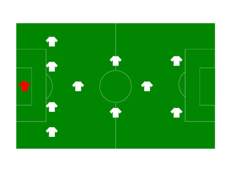 Soccer field with players Vector