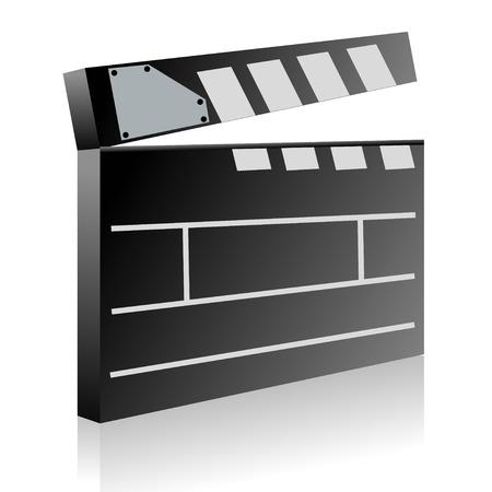 oscars: Film clapboard Illustration