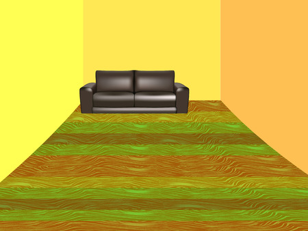 Room with sofa Vector