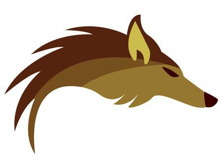 Abstract logo met gouden Vos  Stock Illustratie