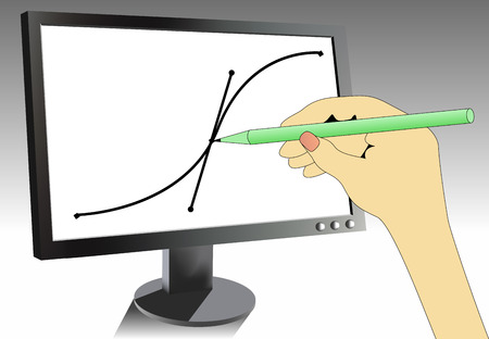 Illustrating hand Vector