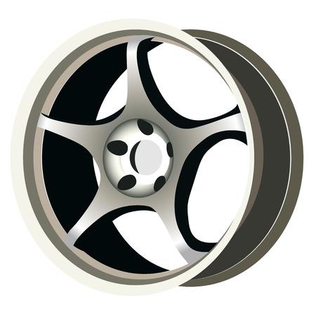 aluminio: Realista rueda Vectores