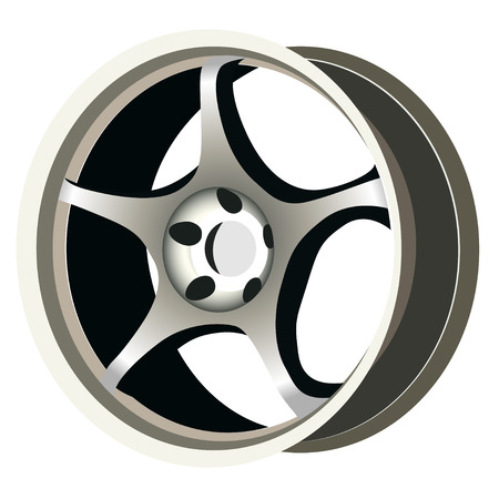 Realistic wheel Stock Vector - 4381581