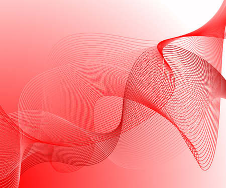 electric grid: Red wavy background Illustration