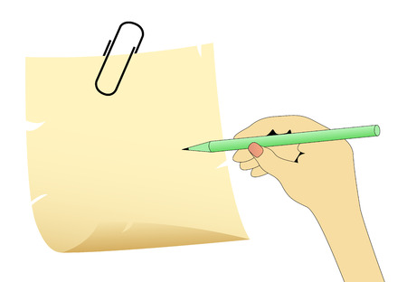 Hand drawing something Vector