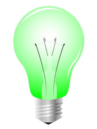 Realistic light bulb, vector illustration Stock Vector - 4381616