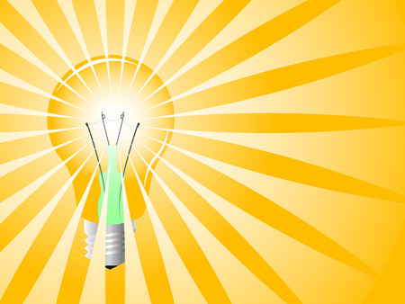 Realistic light bulb, vector illustration Stock Vector - 4381618