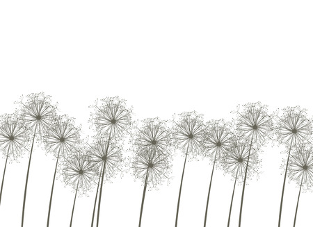 Dandelions, vector illustration Stock Vector - 4381633