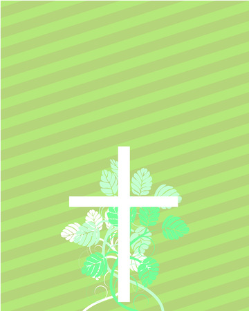 condolence: Easter cross with floral elements