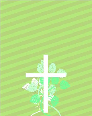memorial cross: Semana Santa cruz con elementos florales
