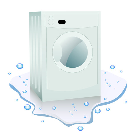 household goods: Broken washing machine in the water