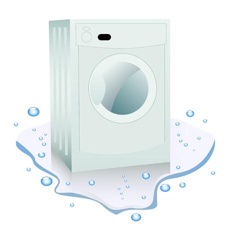 laundry washer: Roto lavadora en el agua