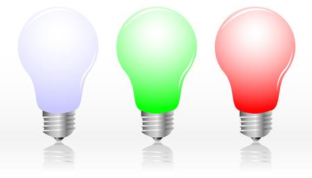 Realistic light bulbs, vector illustration Stock Vector - 4671528