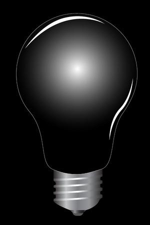 Realistic light bulb, vector illustration Vector