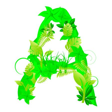 Floral letter a Vector
