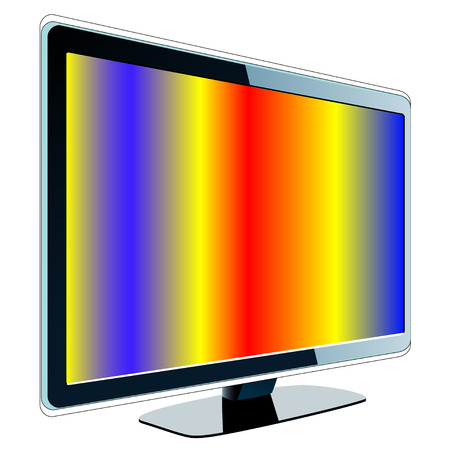 LCD with colorful screen Stock Vector - 4925276