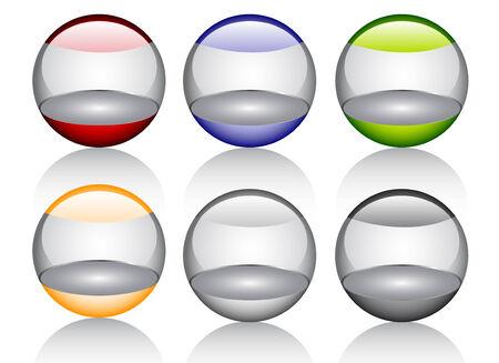 orbs: Glossy shiny orbs Illustration