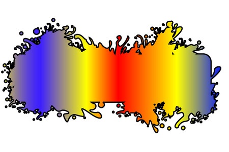 Colorful splash