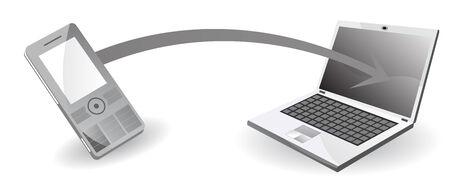 Transferencia de datos de ordenador a teléfono móvil