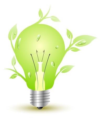 Floral green light Vector