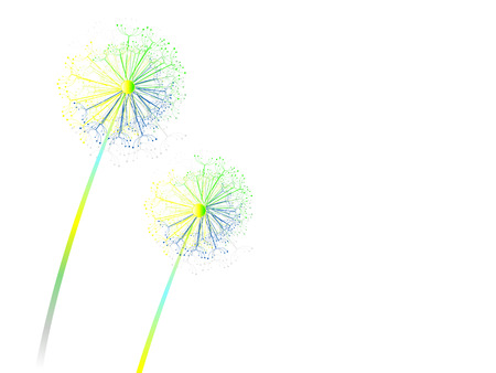 Colorful dandelion Stock Vector - 4939264