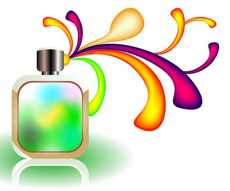 pulverizador: Frasco de perfume Vectores