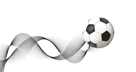 Abstract soccer design Vector