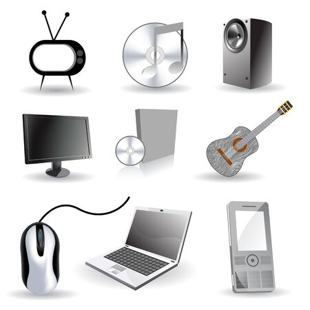 Set of vector industrial/ technology icons Stock Vector - 5015252